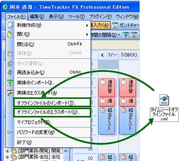 データベースに接続できない環境でtimetracker fxを使う
